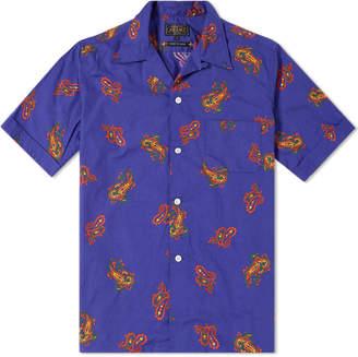Beams Short Sleeve Large Paisley Print Vacation Shirt