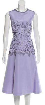 Lela Rose Embroidered Silk Dress w/ Tags