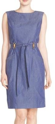 Women's Ellen Tracy Chambray A-Line Dress $128 thestylecure.com