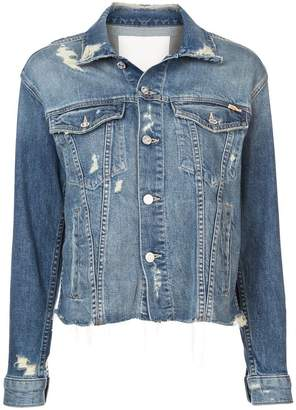 Mother ripped denim jacket