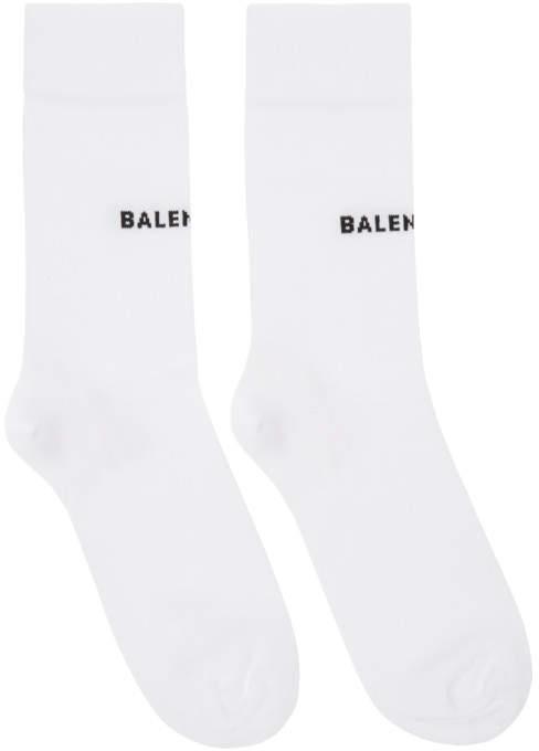 White Tight Logo Socks