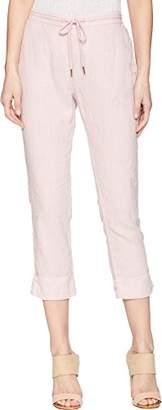 Michael Stars Women's Woven Linen Cuffed Trouser