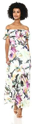 Betsey Johnson Women's Strapless Floral Maxi Dress