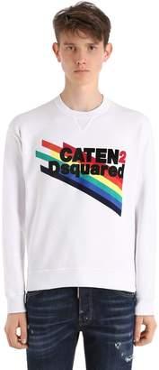 DSQUARED2 Caten2 Printed Cotton Jersey Sweatshirt
