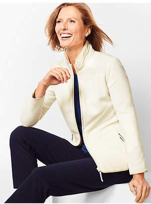 Talbots Solid Polar Fleece Jacket