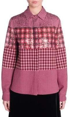 Fendi Sequin Panel Shirt