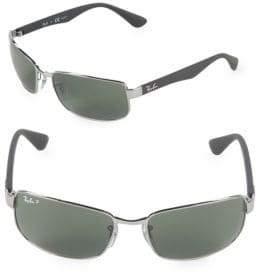 Ray-Ban 60MM Polarized Rectangle Sunglasses