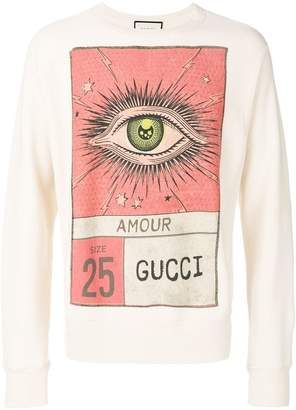 Gucci eye print sweatshirt