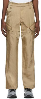 AFFIX Beige Service Cargo Pants