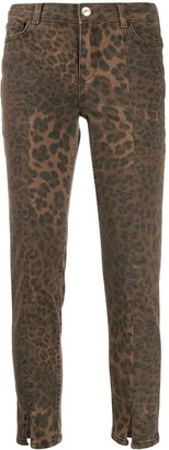 Twin-Set leopard print cropped trousers