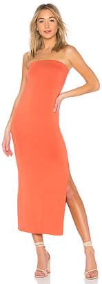Enza Costa Matte Jersey Side Slit Dress