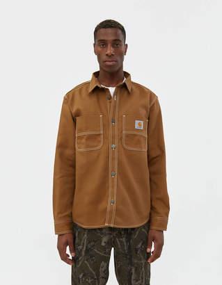 Carhartt Wip Chalk Shirt Jacket in Hamilton Brown