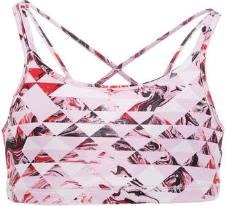 Macy's Ideology Big Girls Geo-Print Strappy Sports Bra, Created for