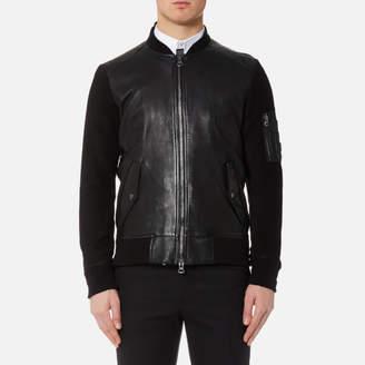 BOSS ORANGE Men's Jixx Leather Jacket