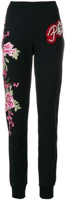 Philipp Plein flower patch sweatpants