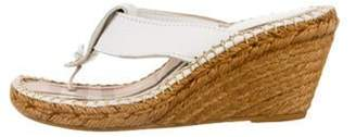 Burberry Thong Wedge Sandals White Thong Wedge Sandals