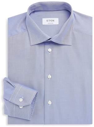 Eton Men's Textured Cotton Dress Shirt