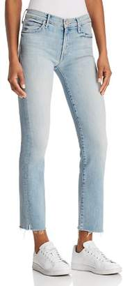 Mother Rascal Ankle Snippet Jeans in Tinge