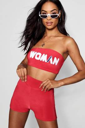 boohoo Woman Double Layer Bandeau