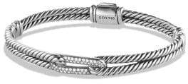 David Yurman Petite Pave Labyrinth Single-Loop Diamond Bracelet
