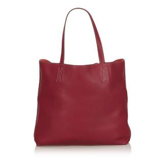 Hermes Double sens leather tote