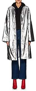 MM6 MAISON MARGIELA Women's Oversized Metallic Trench Coat - Silver