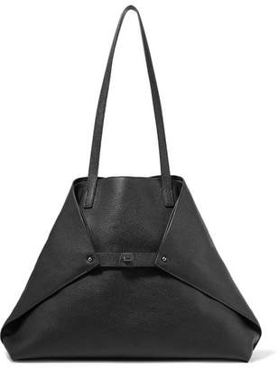 Akris Ai Medium Textured-leather Shoulder Bag - Black