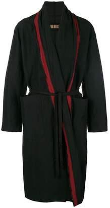 Uma Wang belted wrap coat