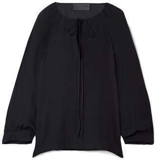 Nili Lotan Acadia Silk-chiffon Blouse - Black