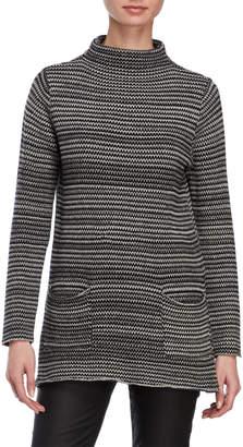 Eight Eight Eight Mock Neck Long Sleeve Sweater