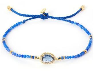Tai Blue Drawstring Bracelet $88 thestylecure.com