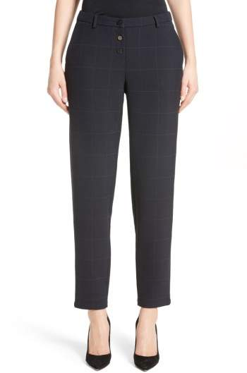 Women's Armani Collezioni Windowpane Plaid Pants