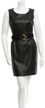 Alice by Temperley Leather Mini Dress $295 thestylecure.com