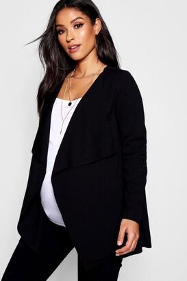 boohoo Maternity Waterfall Belted Jacket