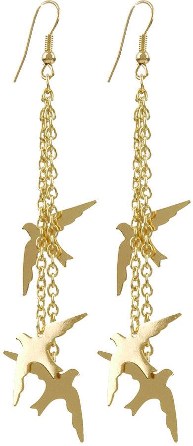 Polished Bird Earrings