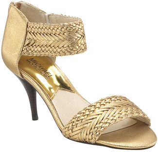 Michael by Michael Kors - Juniper - Bronze Metallic Leather Woven Sandal