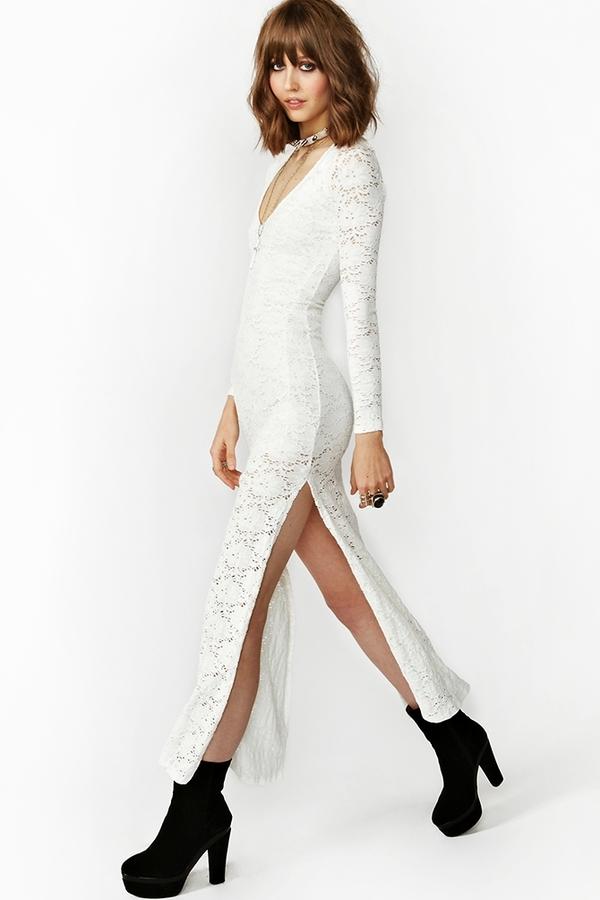 Nasty Gal Louisa Lace Maxi Dress