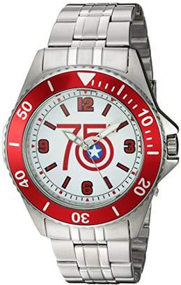 Marvel Men's 'Captain America' Quartz Stainless Steel Casual Watch