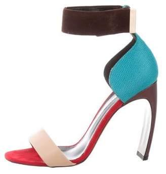 Nicholas Kirkwood Colorblock Ankle Strap Sandal