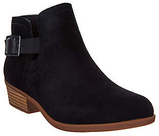 Clarks Suede Perforated Booties - Addiy Carisa
