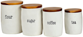 One Kings Lane Set of 4 Marini Canisters - White