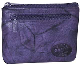 Buxton Womens Leather Heiress Pik-me-up Framed Id Coin, Credit Card Case Holder Wallet , Change Purse (Mulberry-Purple)