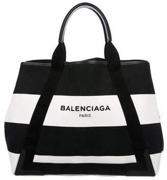 Balenciaga Medium Stripe Cabas Tote
