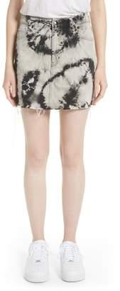 Ashley Williams Stephanie Tie Dye Denim Miniskirt