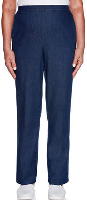Alfred Dunner Womens High Waisted Straight Pull-On Pants