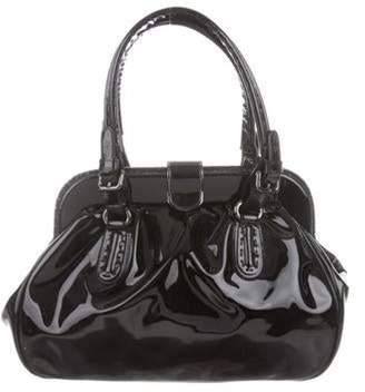 Giorgio Armani Patent Leather Frame Bag Black Patent Leather Frame Bag