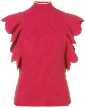 Elisabetta Franchi turtle neck knitted top