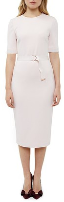 Ted Baker Belted Midi Sheath Dress $315 thestylecure.com