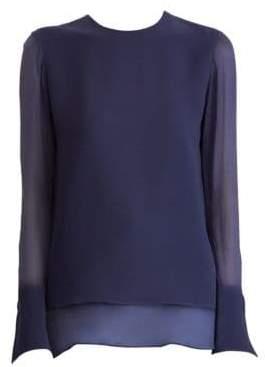 Ralph Lauren Women's Silk Blouse - Navy - Size 6