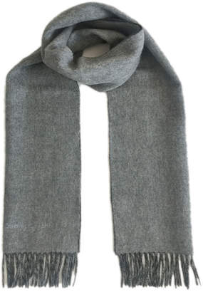 James Cavolini Italy Men's Cashmere Wool Double-Sided Scarf